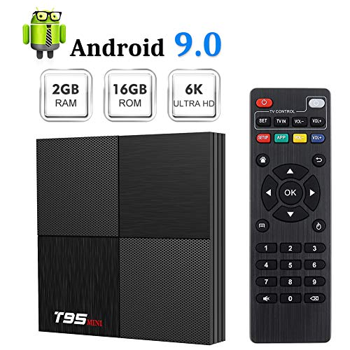 Android 9.0 TV Box Sidiwen T95 Mini Android Box 2GB RAM 16GB ROM H6 Quadcore Cortex-A53 Smart TV Box USB 3.0 2.4GHz WiFi 3D 6K Streaming Media Player