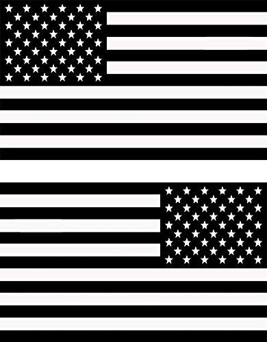 Papapatch PS-STK-USA-BW-Set Wandaufkleber/Wandaufkleber aus Vinyl, Motiv USA-Flagge und US-amerikanische USA/USA / USA/USA / Amerika/Laptop, Schwarz/Weiß - Flagge Us Usa Amerikanische Flaggen
