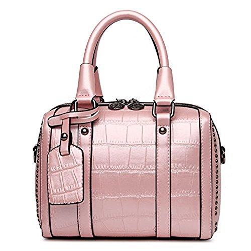 Meoaeo 2017 Nuova Moda Borsette Sacchetto A Cuscino Crossbody Bag Rivetti Borsa Per Portatile Nero Pink