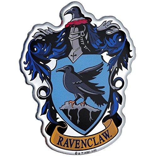 Fan Emblems Ravenclaw Crest Auto Aufkleber gewölbt/Multicolor/Chrome Finish, Harry Potter Automotive Emblem gilt leicht für Autos, LKWs, Motorräder, Laptops, Handys, Windows, fast alles