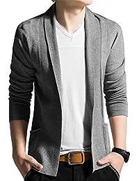 Ghope Veste Homme Col Châle Devant Ouvert Manches Longues Cardigan Loisir Blazer Sweater Open