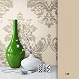 NEWROOM Barocktapete Beige Vliestapete Ornamente Barock schöne moderne und edle Design Optik , inklusive Tapezier Ratgeber