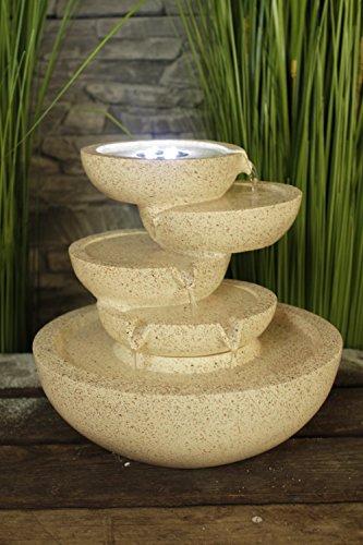 Zimmerbrunnen Conchas mit LED-Beleuchtung Springbrunnen Wasserspiel Tischbrunnen