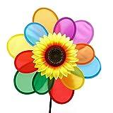 dairyshop Sonnenblume Rainbow Windmühle Windspiel Whirligig Rad Home Yard Dekoration Hot