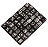 Ularma Moda Imagen de placa de impresión estampación sellos placa manicura Nail Art decoración de