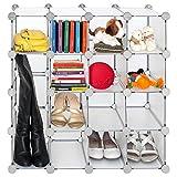 Tatkraft Smart Cube Kreativer Plastik Regalsystem Steckregal Kleiderschrank Schuhregal Veranstalter 16 Fächer DIY