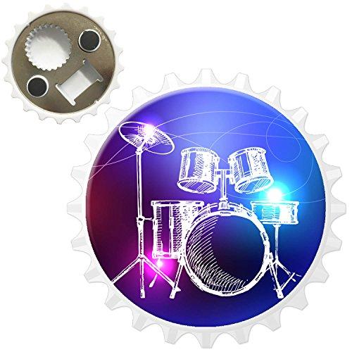 Lineart 5-teiliges Schlagzeug mit Becken Kühlschrankmagnet mit Flaschenöffner