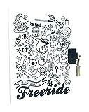Avenue Mandarine Tagebuch für Jungen Freeride, weiß/schwarz