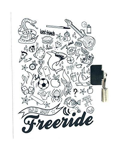Avenue Mandarine CO141O - Loisir créatif - Journal Intime Ligné, Blanc