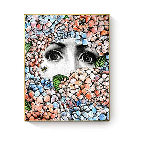 Wandkunst Malerei Lina Gesicht Poster Und Drucke Leinwand Malerei Dekoration Vintage Retro Dekorative Bild Wohnkultur ()