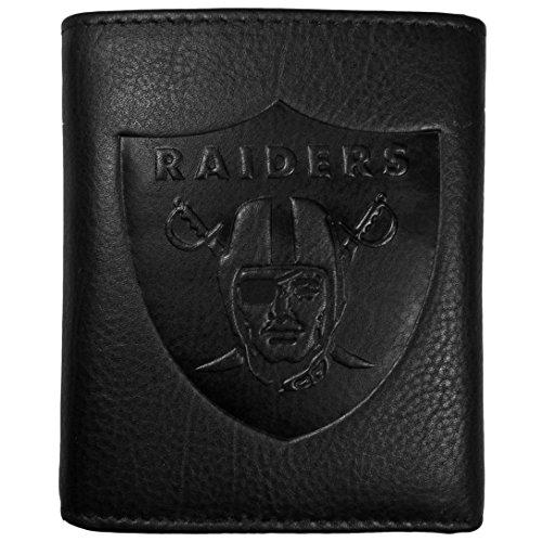 nd Raiders geprägt Geldbörse Leder, Schwarz, Tri-Fold ()