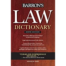 Barron's Law Dictionary (Barron's Law Dictionary (Quality)) by Steven H. Gifis (2010-09-01)