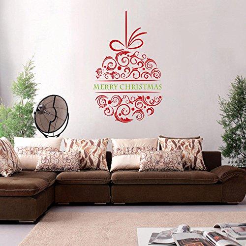 NBKLS Wandtattoos 3D Wandaufkleber Weihnachtsbaum Decals Für Weihnachten Wandtattoo 57X92 cm wasserdichte PVC Vinyl Abnehmbare Christmsa Wandaufkleber