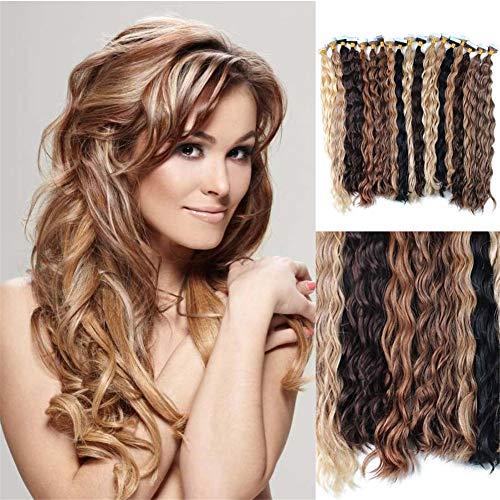 RemeeHi Haarverlängerung, 66 cm (26 Zoll), 33# Dark Auburn Brown (Zoll Hair Extensions In Tape 26)