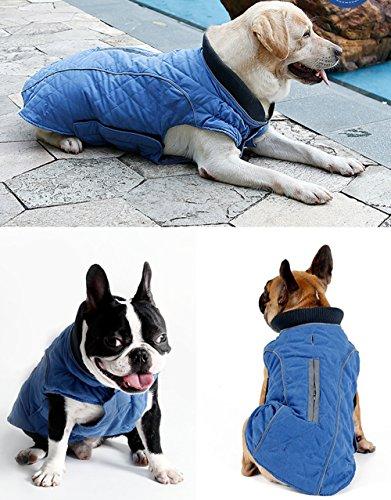 Nobbies Weihnachten Kostüme (UMALL Hundemantel Winter Wasserdicht für Große Hunde und Kleine Hunde hundekleidung Reflektor Warm)