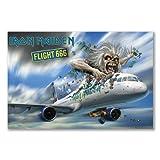 Poster Kunstdruck: Iron Maiden Folie Flight 666Dokumentarfilm Album (A1Maxi–61x 91,5cm/61x 91,4cm, seidenmatt Papier)