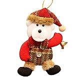 Hukz Weihnachtsschmuck Geschenk Weihnachtsmann Schneemann Rentier Toy Doll Hang Dekorationen,Weihnachts Mini Anhänger Ornamente(17 * 10CM) (C)