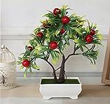 #4: TIED RIBBONS Bonsai Plastic Fruit Tree Artificial Plants
