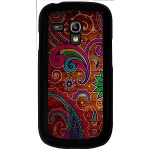 Casotec Wooden Pattern Design 2D Hard Back Case Cover for Samsung Galaxy S3 Mini I8190 - Black