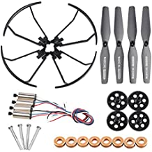 XS809W Spare Parts Crash Pack for VISUO XS809 XS809HC XS809W XS809HW RC Quadcopter Drone Including Propellers, Upgraded Motors, Bumpers Gears, Shafts Bearings