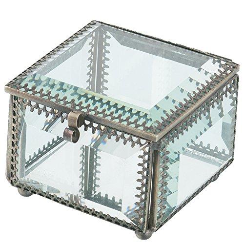 Artelore Home 0118001 Phuket - Caja de cristal, color beige