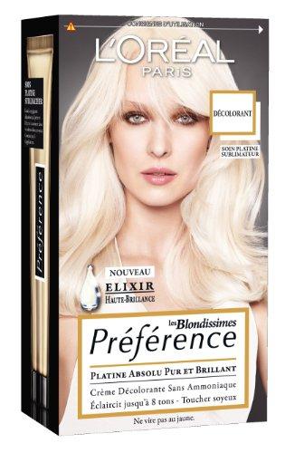 L'Oréal Paris Préférence Décolorant Sans Ammoniaque Platine 8 tons