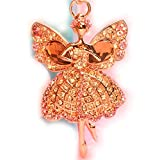 Sweet Home Women Swarovski Rhinestone Butterfly Angel Car Key Chain Keyrings Gift Bag Charm