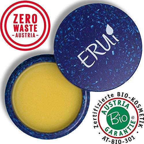 *NEU* ERUi® Naturkosmetik Bio Handcreme für sehr trockene Hände - Schnell einziehende Handpflege für sanfte Hände - Natürliche Handschutzcreme frei von Plastik, Parfum und Paraffin (1 x 30 g)