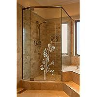 Sichtschutz Aufkleber Folie Glasdekorfolie Bad Dusche Duschwand Badezimmer Glasdekor Ornament BD131