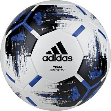 adidas Unisex Jugend Fußball Team Junior, Größe 5, 350 g, White/Black/Blue/SILV, 5