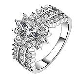 GYJUN Declaración de Zirconia de plata 925 anillos de boda / fiesta / diario / ocasional 1pc , 8