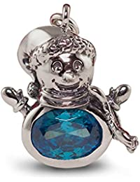 Pendant In 925 Sterling Silver | Melt My Heart Snowman Charm For Women And Girls | Cute Gift