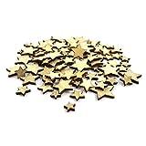 Sepkina 100 kleine süße Mini Sterne Stars als Streudeko Natur Holz Holzsterne Sternchen