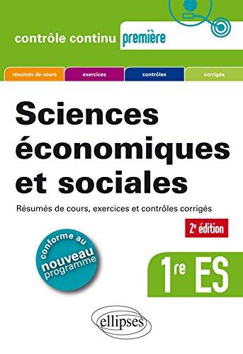 Sciences conomiques et sociales (SES) - Premire ES - 2e dition