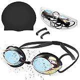 Zacro Occhialini da Nuoto, Anti-Appannamento Occhiali da Nuoto Agonistico Protezione UV Impermeabile Occhiali da Nuoto per Uomini