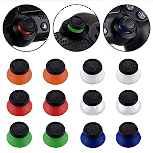 eXtremeRate 6 Paar Joystick Sticks Thumbsticks Analogsticks mit Schraubenzieher für Playstation 4 für PS4 Slim Pro…