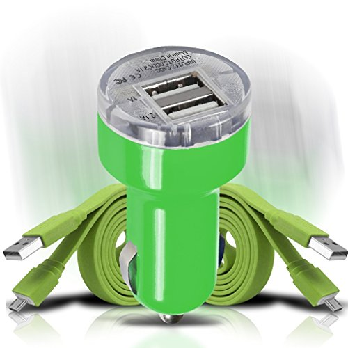 verykool-spark-ii-s5015-videocon-a10f-videocon-a15-car-charger-set-green-12v-in-car-charging-mini-bu