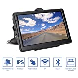 Daxstar 7 Inch Sat Nav GPS, 8GB Touchscreen Car Navigation Bluetooth Android Lifetime Free Updated Maps of UK and Europe - Black