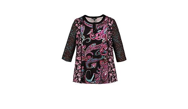Ulla Femme Grandes Shirt T Col Popken Graphique Tailles Rond Imprimé OXuPkZi