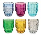 Villa D'Este Syrah Juego de 6 Vasos de Cristal para Agua