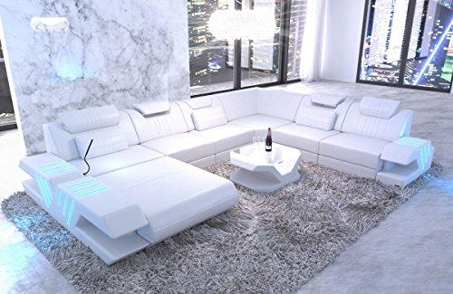 Sofa Dreams XXL Wohnlandschaft Venedig Weiss-Weiss