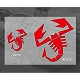 encell Scorpion Emblem Reflektierende Aufkleber für ABARTH