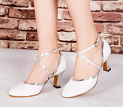 TDA - Sandali con Zeppa donna 6cm Heel White