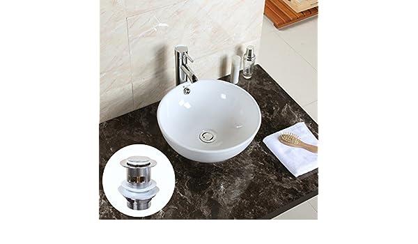 Vasca Da Bagno Rotonda Dimensioni : Ciotola rotonda gaga top ceramica lavabo ciotola recipiente in
