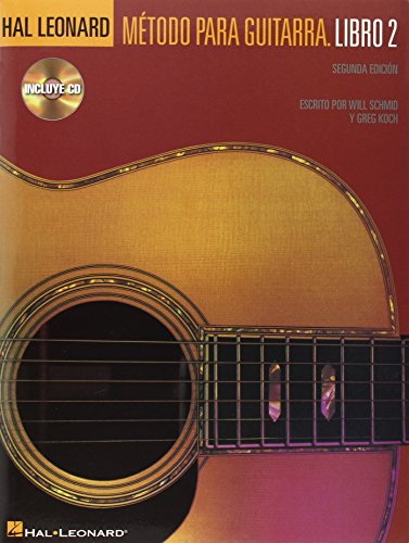 Hal Leonard Metodo Para Guitarra - Libro 2: Spanish Edition Book/CD Pack por Will Schmid