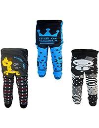Backbuy 3 pantalones 0-24 meses para bebés niños leggings pantalones de punto E4F4F5