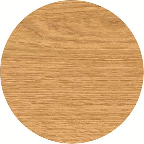serladur Tischplatte Dekor Oak/Eiche 80 cm rund, wetterfest für Garten, Terrasse, Balkon in Gastronomiequalität Ersatztischplatte Bistro Tische -