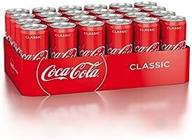 Coca-Cola Classic/Pure Erfrischung mit unverwechselbarem Coke Geschmack in stylischem Kultdesign/24 x 330 ml Dose