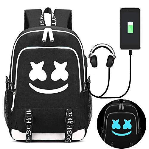 Mcgradyxm Luminous Zaino DJ, 20L Unisex Scuola Borsa Antifurto Zaino Porta PC Notebook Zaino Laptop Zaini Casual Viaggio con Interfaccia di Ricarica USB (Colour 7)