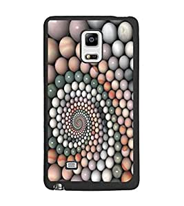 PrintDhaba Pattern D-5363 Back Case Cover for SAMSUNG GALAXY NOTE 4 (Multi-Coloured)